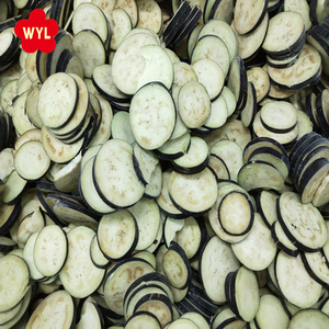 2017 Grade A Unpeeled 5-8mm Thick Frozen Eggplant Slices