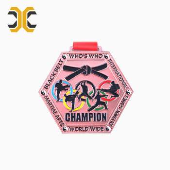 Custom Attractive Design Zinc Alloy Taekwondo Medal