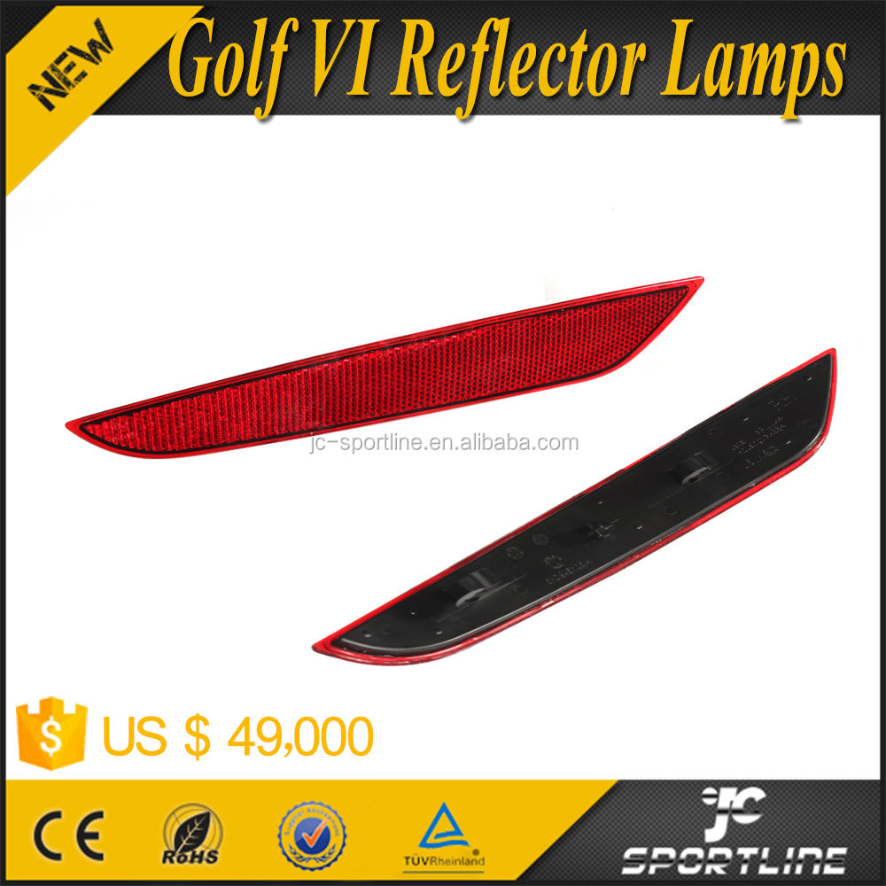 ABS Red Rear Bumper Reflector Lamps for VW Golf 6 VI MK6 09-13 2pcs/set