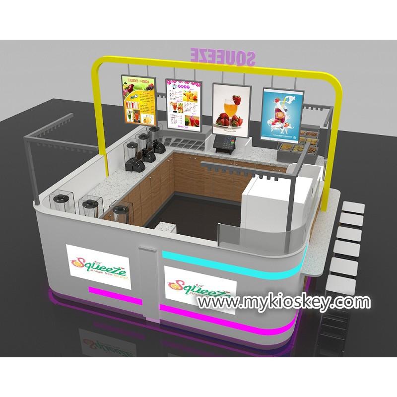 Colorful 10*12ft wood fast food kiosk design crepe food kiosk
