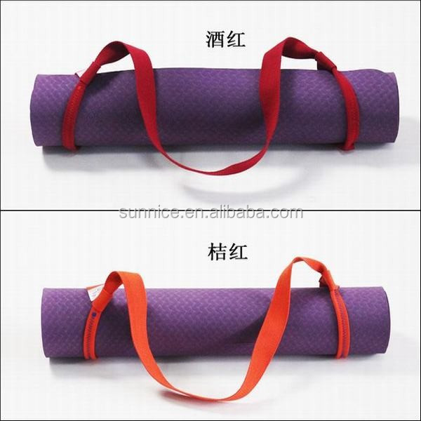 China manufacture super quality exercise strap yoga mat strap
