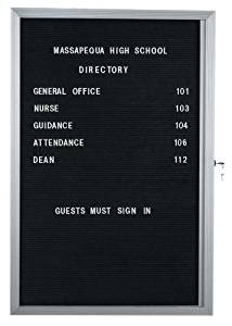 "Directory Cabinet Enclosed Wall Mounted Bulletin Board Frame Color: Clear Satin Anodized, Number of Doors: One, Size: 36"" H x 24"" W"