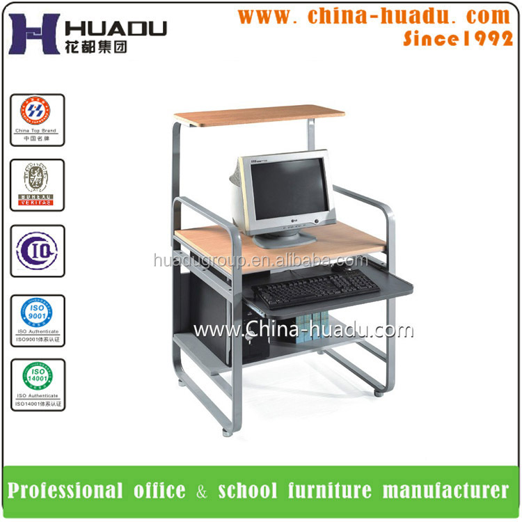 Hot selling Wood Office Computer Desk With CPU Stand
