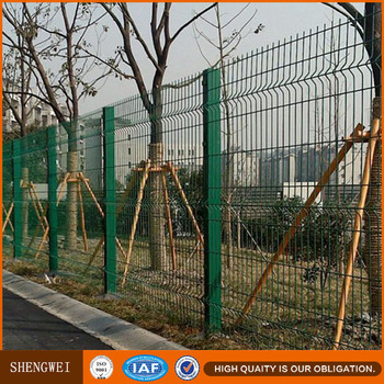 Grid Wire Mesh Fence,Green Coated Welded Wire Mesh Fence ...