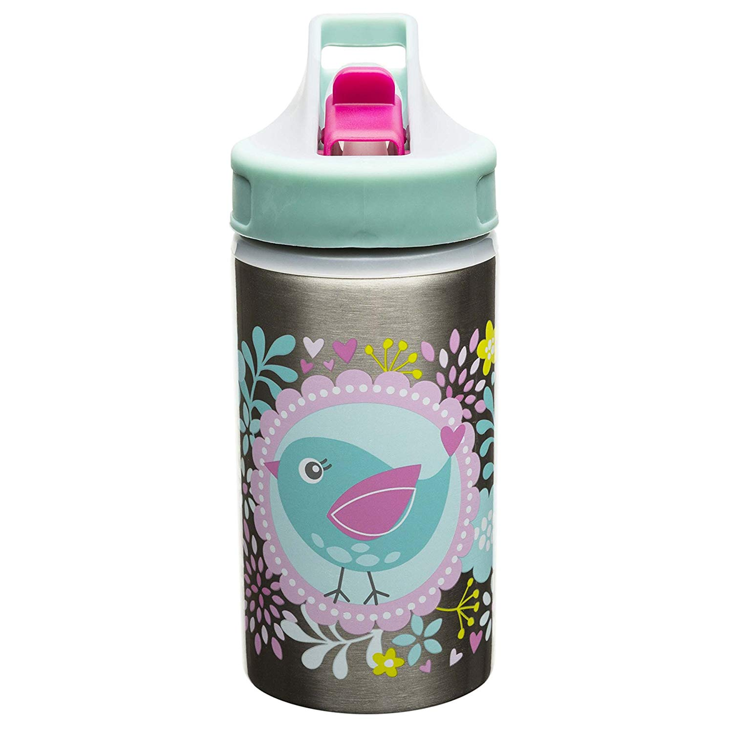 2e2c9d6948 Designs Toddlerific Stainless Steel Sports Water Bottle with Tweet  Graphics, Flip-up