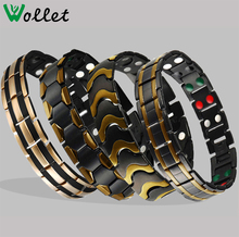 Fashion jewelry wholesale stainless steel magnetic bracelet benefit