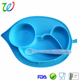 FDA portable lovely shape silicone placemat for toddlers baby plate