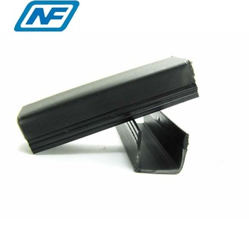 White or black color flexible rigid pvc u channel