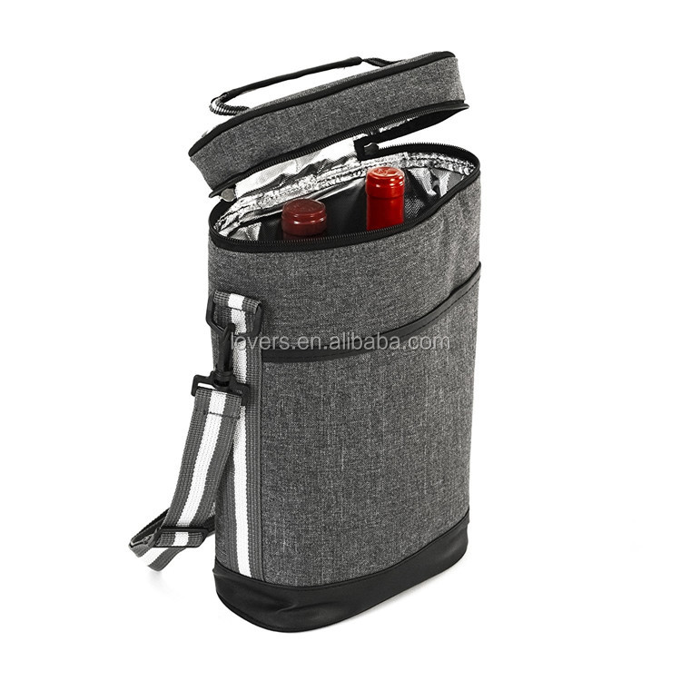 2 Bottles Wine Carrier Insulated Portable Travel Bag Product On Alibaba