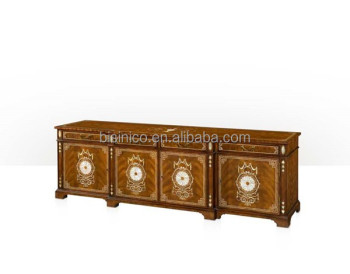 vintage royal style tv cabinet castle living room furniture luxury living room gilt carved tv stand