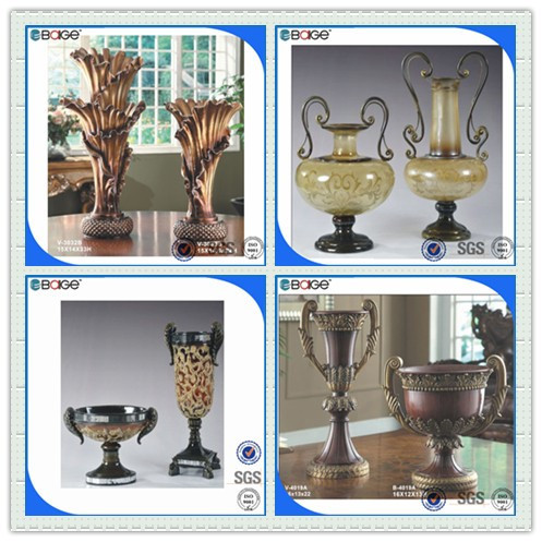 V 3033b classical art craft vase handmade craft from waste for Waste material handmade craft