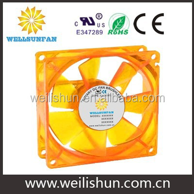 12CM computer cooling orange led fan