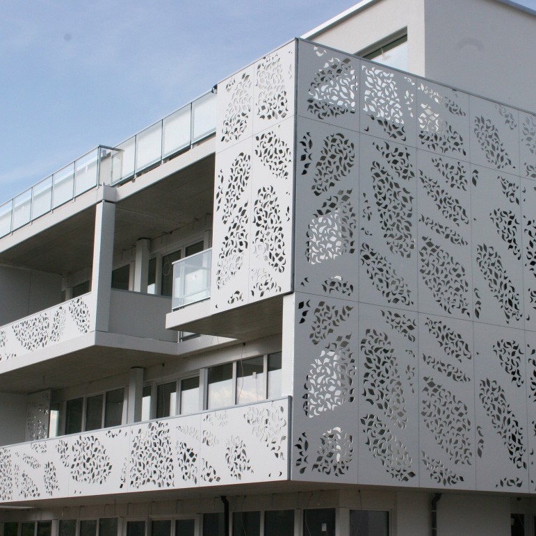 Cnc Laser Cut Metal Screens As Exterior Facade Buy Metal