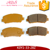 wholesale AKOK factory advanced brake pads for Mazda CX2 auto spares parts K0Y1-33-28Z