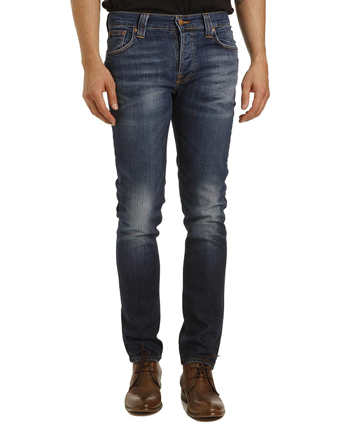 57b68e9fc8 Get Quotations · NUDIE JEANS Men s Cold Crisp Grim Tim Organic Slim Fit  Jeans