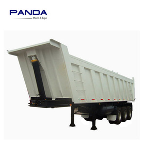 widely used 3 Axle tipper truck trailer 40ton dump truck for bulk materials transportation