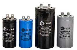 Condensateur courant CD60 250V AC 400uF 50 60Hz avec condensateur rond fil/é pour compresseur dair de moteur
