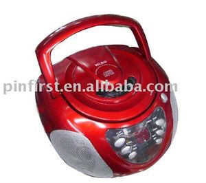 Medium Size Red CD Player With Radio & Recorder