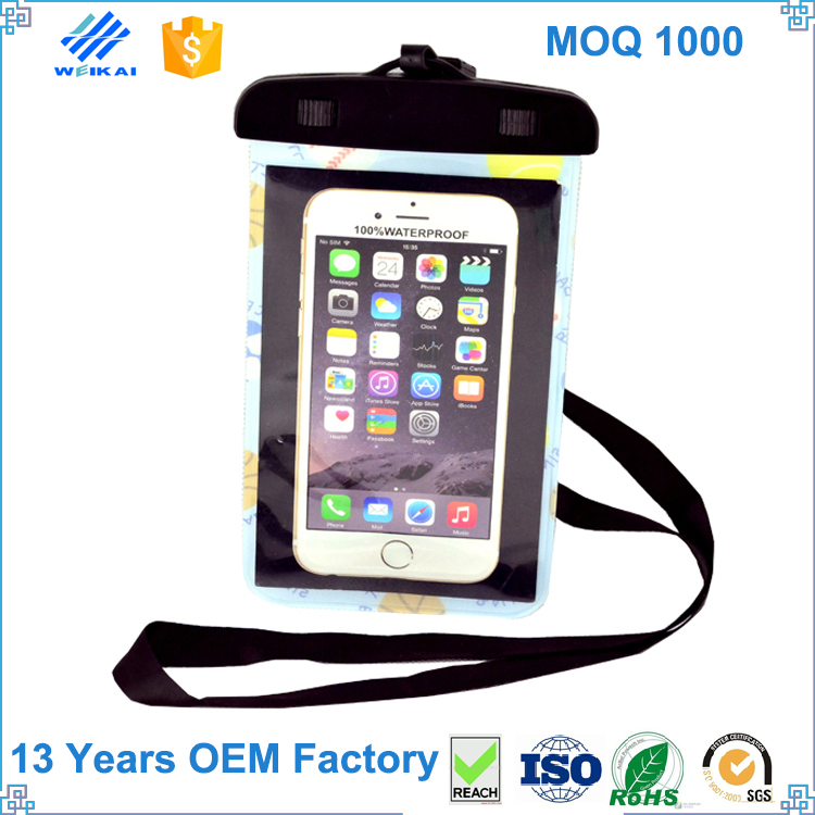 New Products Cute Cell Mobile Phone PVC Zipper Waterproof Bag