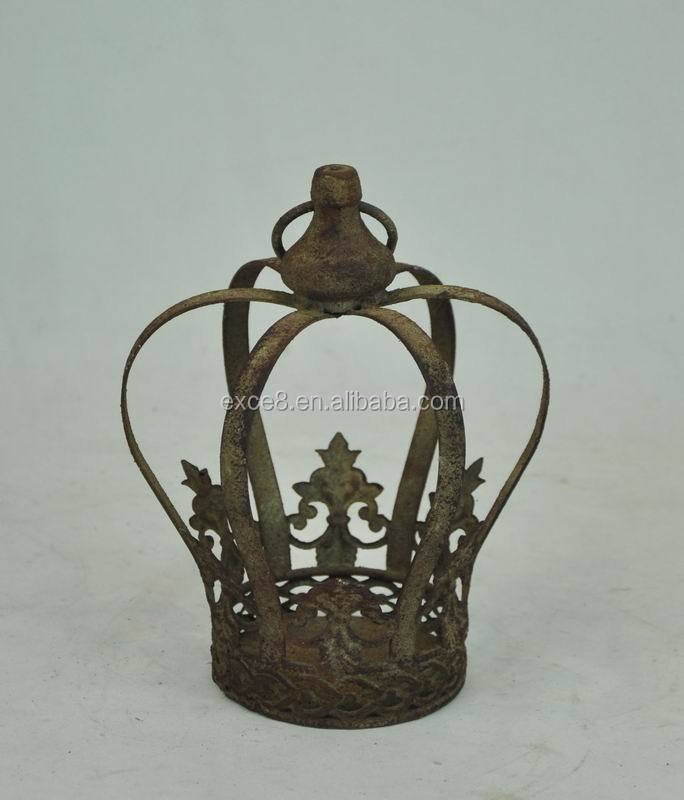 Wholesale antique decorative king metal crowns buy home for Crown decorations home
