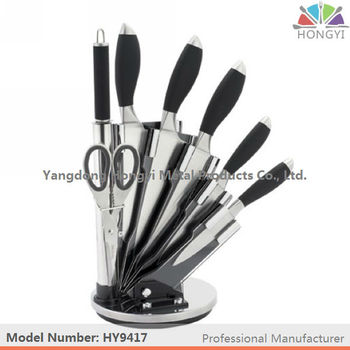 Royalty Line Style Kitchen Knife Set With Acrylic Stand