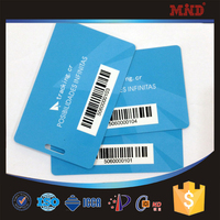 MDC184 barcode scanning ticket pass card pvc barcode card