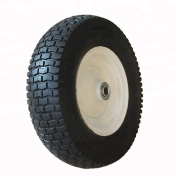 13x3.50-6 Solid PU Wheels With Metal Rim And Ball BearingS For High Pressure Washers
