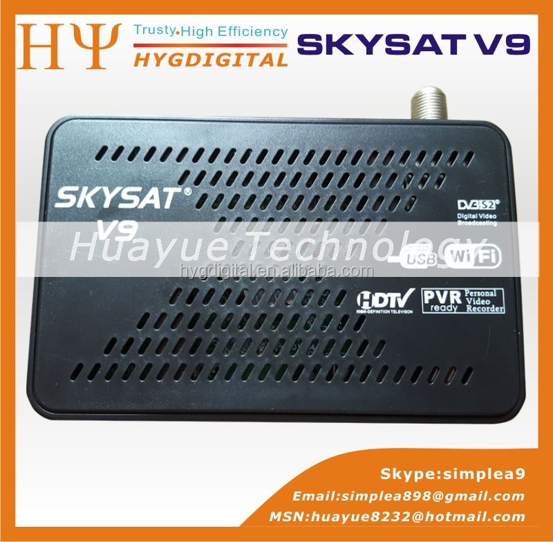 [Genuine]Top Selling PowerVu Autoroll DVB-S2 Satellite Receiver SKYSAT V9 Supporting USB Wifi 3G Dongle CCCam Newcamd SKYSAT V9