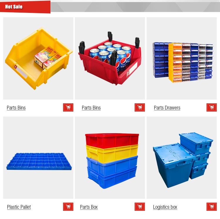 Heavy Duty Stackable foldable box  pallet box storage container Turnover folding collapsible pallet box soda plastic crate