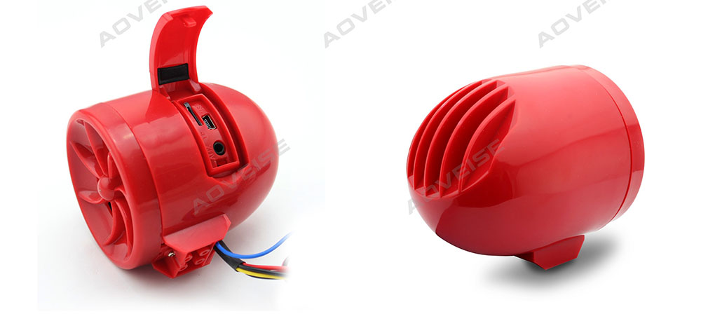 motorbike accessories flash light alarm motorcycle audio MT483-RED[AOVEISE]