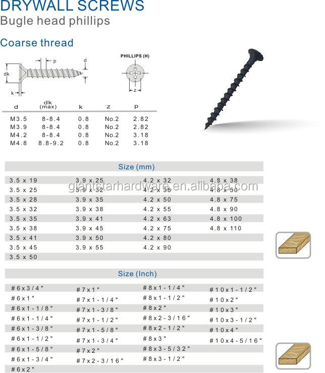 Black Gypsum Board : Black phosphate drywall screws mm buy