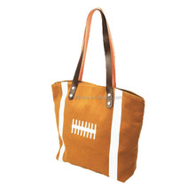 New Arrival Personalized Canvas Soft Bucket Monogram Football Tote Bag