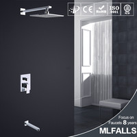 ABS Plastic Handshower Rainfall Head 2 Functions Chrome Finished Wall Mount Conceal Shower faucets mixers taps