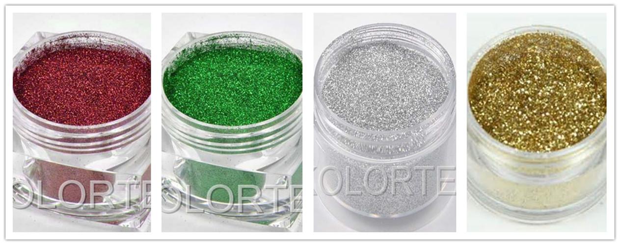 Colorful Cosmetic Iridescent Glitter Pigment, Eyeshadow Glitter ...