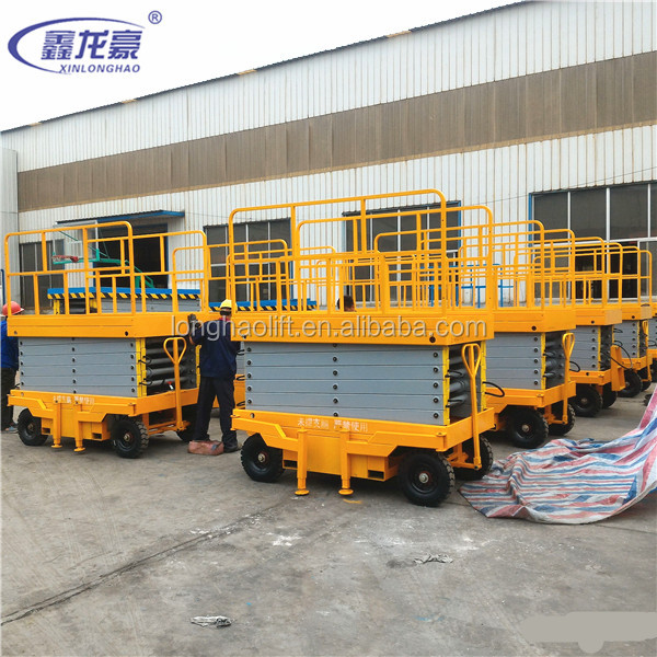 11meter Mobile lifting machine of electric scissor lifting platform