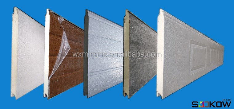 Flush Panel Steel Garage Door/residential Garage Gate With ...