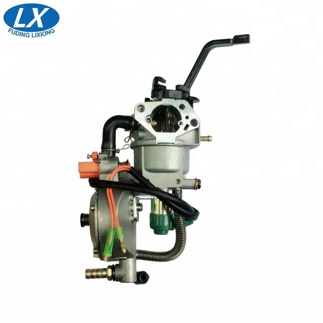 Hot sale 190F GX390/420 LPG CNG dual fuel carburetor for tonco engine generator 5kw carb