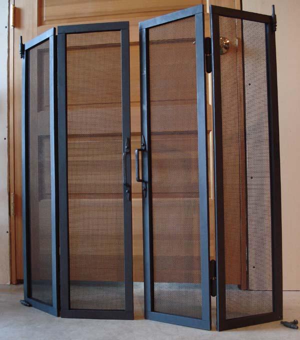 Factory price good quality bi fold screen door china for Buy screen door