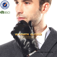 Warmen Stylish motorcycle driving Winter Warm 100%Lambskin Mens Leather Gloves