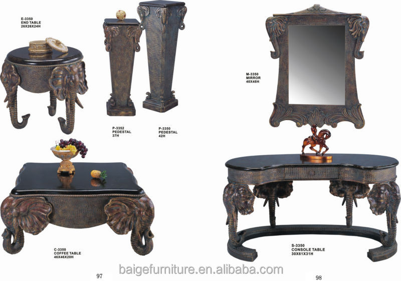 Bent Plywood Chinese Antique Decorative Wooden Elephant Coffee Tables