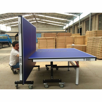 25mm MDF Foldable And Movable Table Tennis Table Ping Pong Table