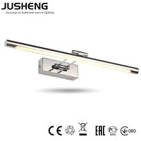 10W 64cm Good Quality Chrome LED Mirror Lamps Wall Light Fixtures For Home bathroom With CE ROHS