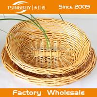 cheap 3pcs round wicker willow gift/flower/ garden basket