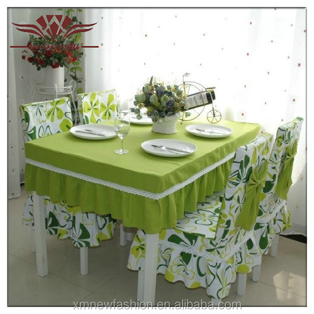 Dining Table Sets, Ruffled Chair Cover, Customized Cherry Blossom Tablecloth