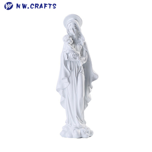 Virgin Mary Decor Friends Gift Mother Kiss Baby Jesus Statue for Catholic Gifts Home Decorations