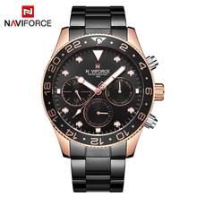 NAVIFORCE мужские часы кварцевые аналоговые Роскошные Дата Неделя Мода Спорт 3ATM водонепроницаемые наручные часы золотые мужские часы Relogio Masculino(Китай)