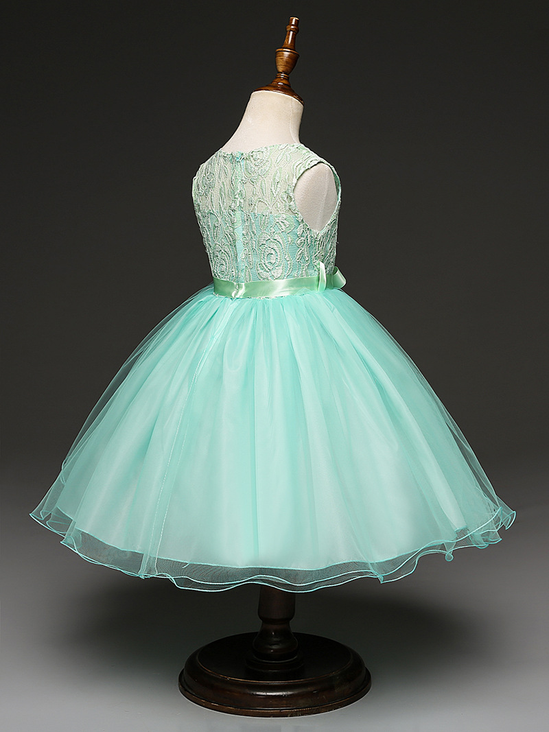 Embroidered Flower Girl Dress Kids Pageant Party Wedding Dress Net ...