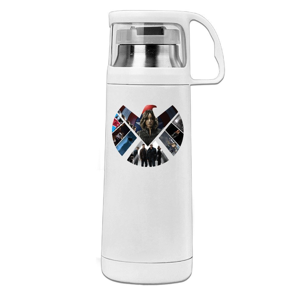 Handson Stainless Steel Vacuum Insulated Travel Mug Special Agent Season Thermal Traveling Tumbler White 14oz/350ml