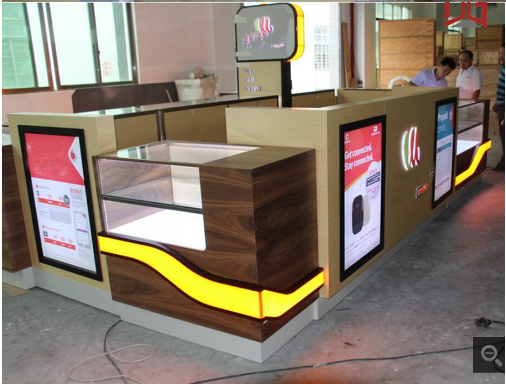 kiosk mobile phone shop cell phone showroom design