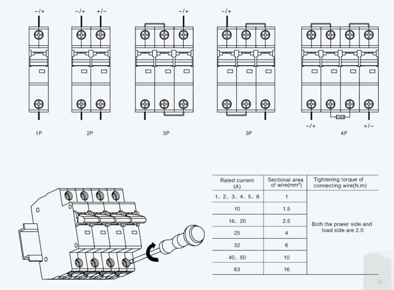 suntree sl7-63 high quality new mini circuit breakers china